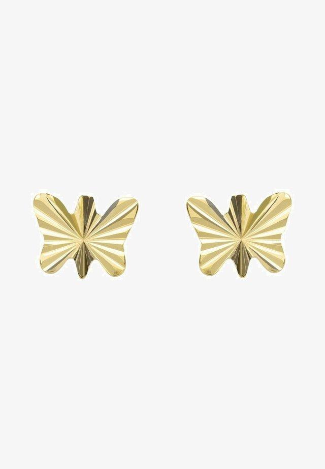 SCHMETTERLING - Earrings - gold