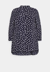 Evans - WITH HEART - Button-down blouse - navy - 4