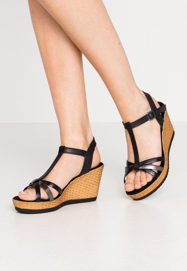 Sandalen met hoge hak - black/pewter