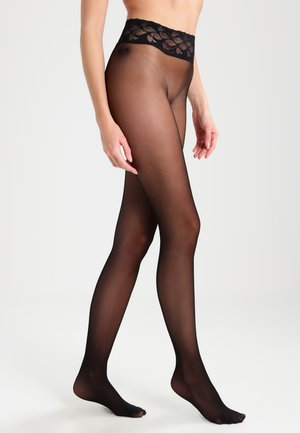 FALKE SENSATION 20 DENIER STRUMPFHOSE TRANSPARENT MATT  - Tights - black