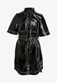 Monki - KARLA DRESS - Košilové šaty - black - 5