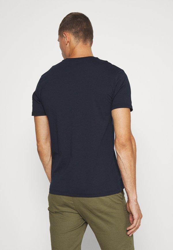 Napapijri SELLYN - T-shirt z nadrukiem - blue marine/granatowy Odzież Męska GEGX
