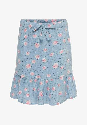 A-line skirt - faded denim