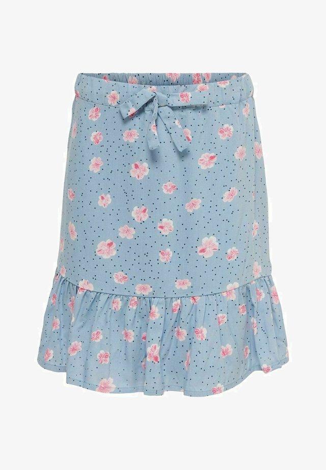 A-snit nederdel/ A-formede nederdele - faded denim