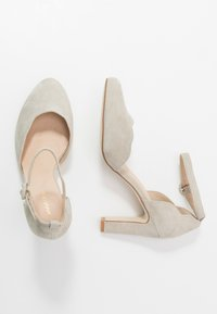 Anna Field - LEATHER PUMPS - Zapatos altos - grey - 3