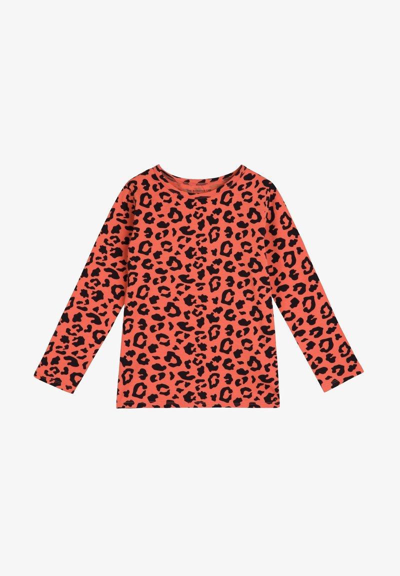 The Striped Cat - Langærmede T-shirts - savanna red