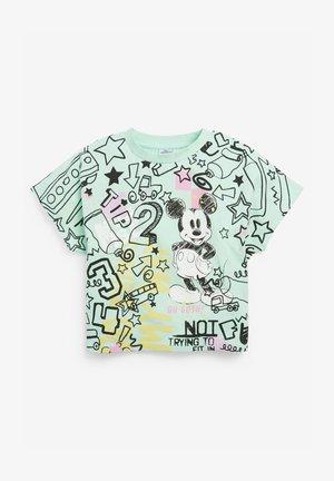 DISNEY GRAFFITI MINNIE MOUSE - T-shirt imprimé - mint