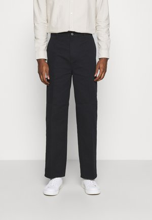 ROSS WIDE TROUSERS - Pantalones - black