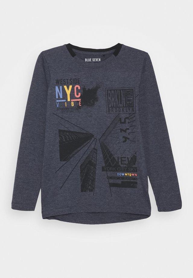 RUNDHALS - T-shirt à manches longues - nachtblau