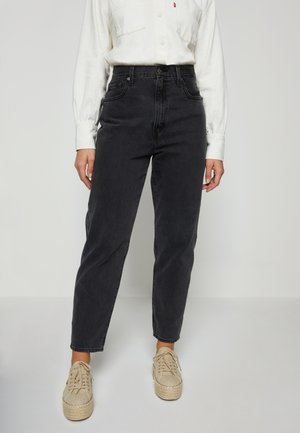 HIGH LOOSE TAPER - Jeans relaxed fit - black