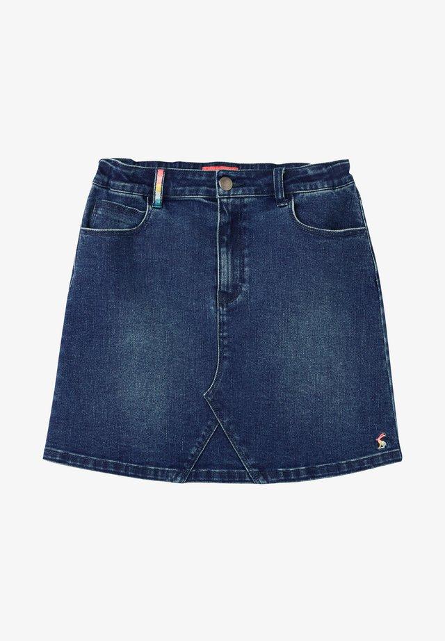 Falda acampanada - blaues jeans