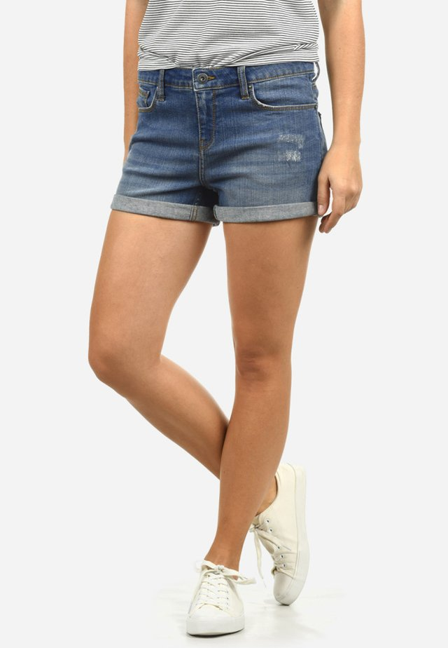 ANDREJA - Denim shorts - medium blue
