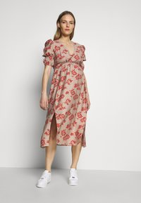 Glamorous Bloom - DRESS - Denní šaty - stone/rust flower - 1