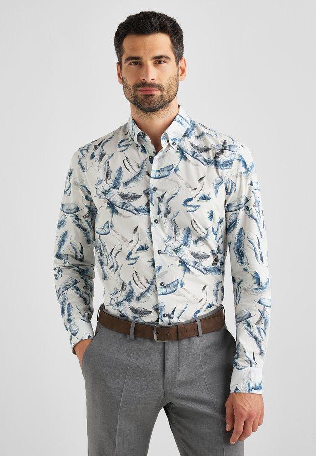 BRAD - Overhemd - off-white/blue/grey