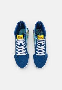 Vans - JN VANS X SPONGEBOB SK8-HI ZIP UNISEX - Höga sneakers - dark blue/multicolor - 3