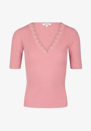 WITH SCALLOP HEM - Print T-shirt - pink