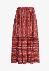 Louche - TIMO FOLKSTRIPE - A-line skirt - red - 3