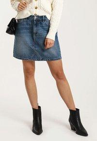 Pimkie - A-line skirt - blue denim - 1