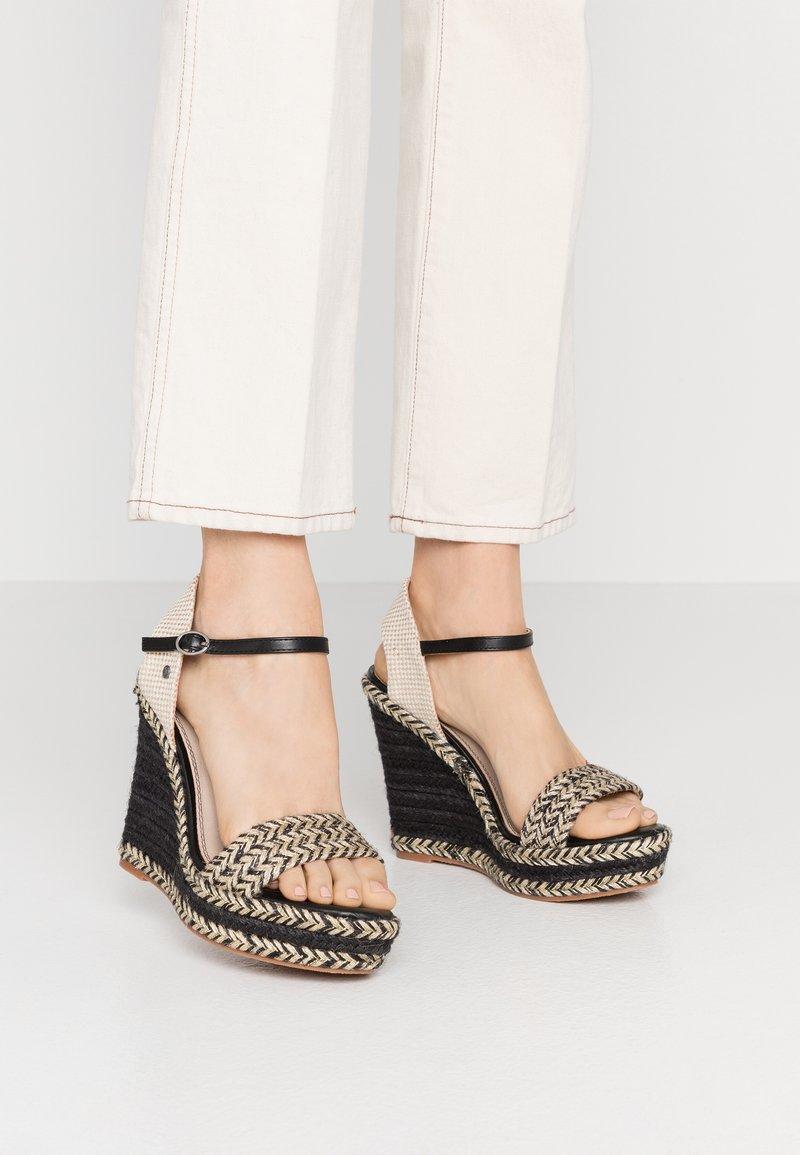 Pepe Jeans - OHARA LOGO - High heeled sandals - black
