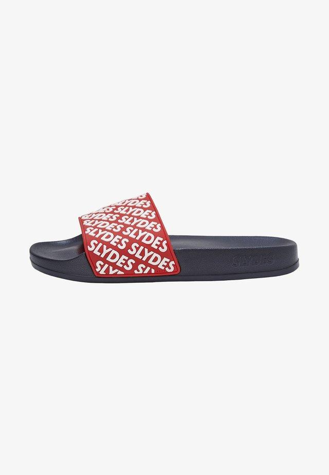 Pool slides - red