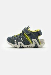 Geox - KRAZE - Walking sandals - navy/lime - 0