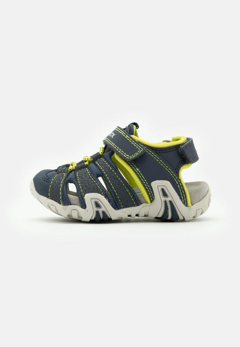 Geox - KRAZE - Walking sandals - navy/lime
