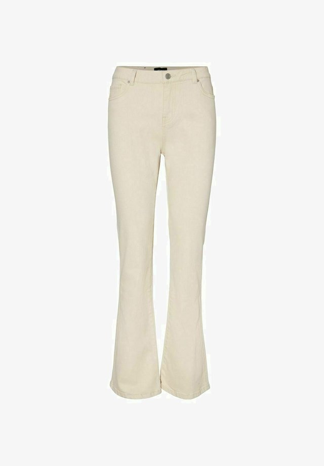 Jeans a zampa - ecru