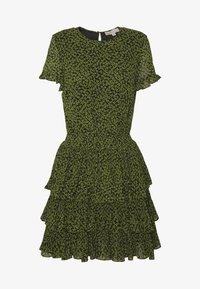MICHAEL Michael Kors - MINI TIER DRESS - Day dress - black/evergreen - 4