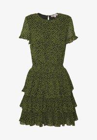 MINI TIER DRESS - Day dress - black/evergreen