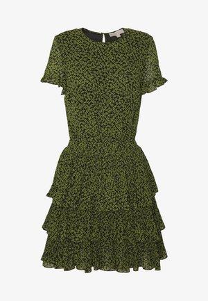 MINI TIER DRESS - Denní šaty - black/evergreen