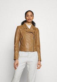 DRYKORN - PAISLY - Leather jacket - braun - 0