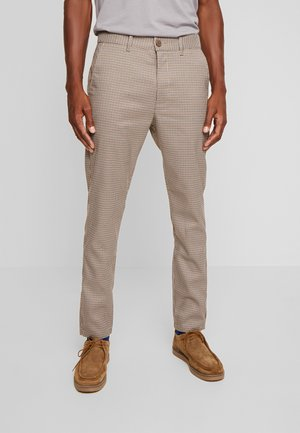 SLIM BARRO - Trousers - sepia