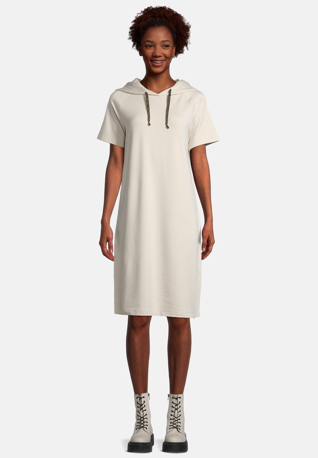 MIT KAPUZE - Korte jurk - beige