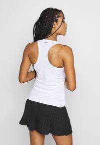 adidas Performance - CLUB TANK - Camiseta de deporte - white/silver/black - 2
