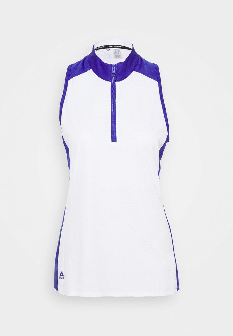 adidas Golf - PRIMEBLUE COLOUR BLOCK - Top - white