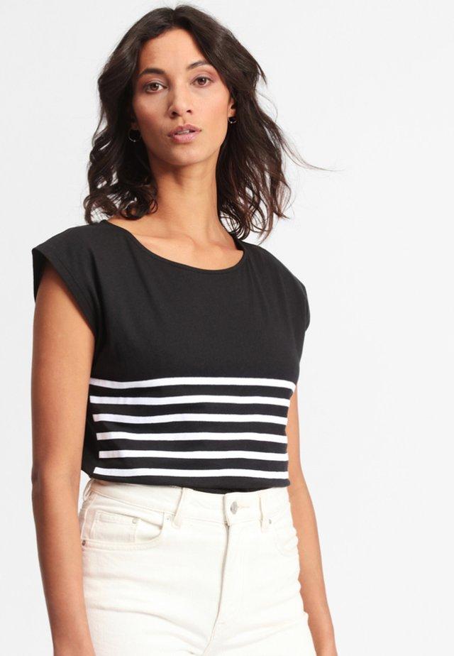 MOLONA - Print T-shirt - black