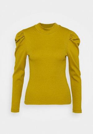 PCANNA T NECK - Camiseta de manga larga - ecru olive