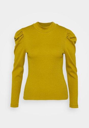 PCANNA T NECK - Long sleeved top - ecru olive