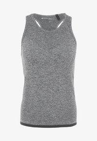 Even&Odd active - SEAMLESS VEST - Top - grey melange - 4