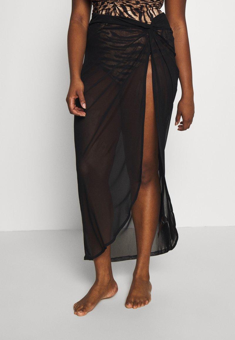 City Chic - SKIRT POOLSIDE - Beach accessory - black