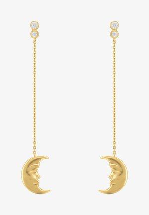 HANGING MOON EARRINGS - Earrings - gold