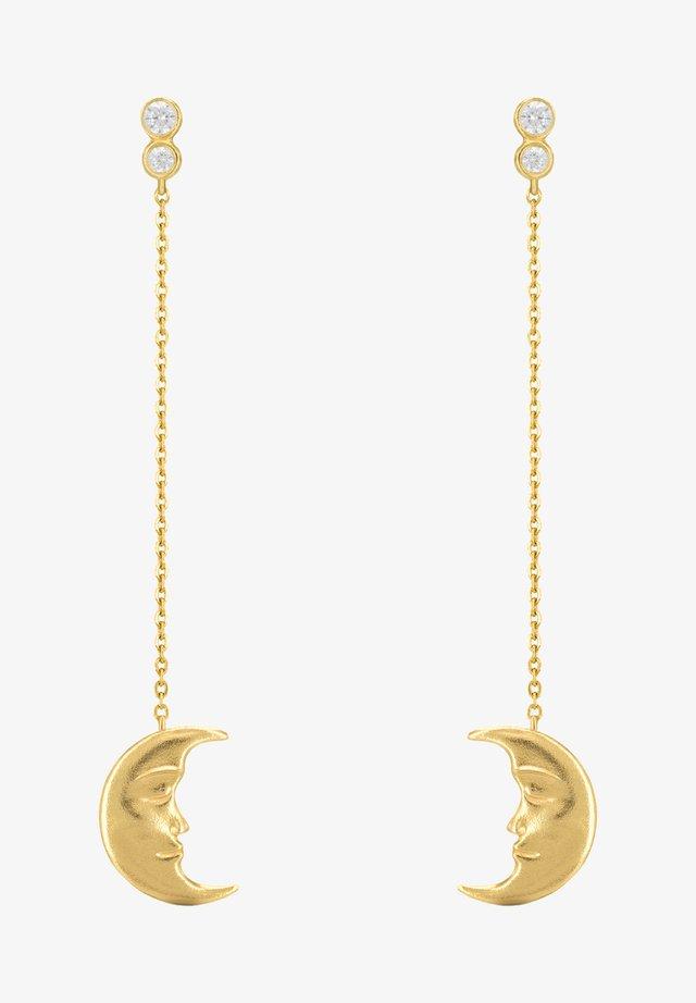 HANGING MOON EARRINGS - Oorbellen - gold
