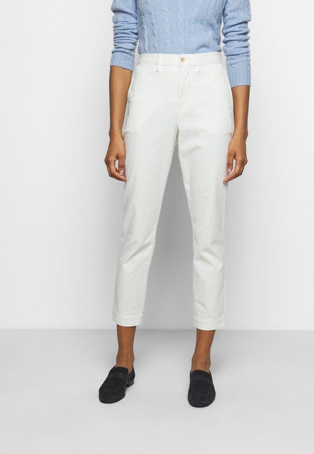 SLIM LEG-PANT - Kalhoty - warm white