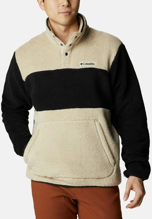 OUTER LAYER RUGGED RIDGE™ SHERPA HALF SNAP - Fleece jumper - ancient fossil/black