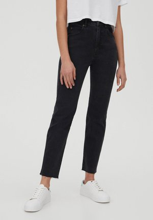 SLIM MOM - Slim fit jeans - black
