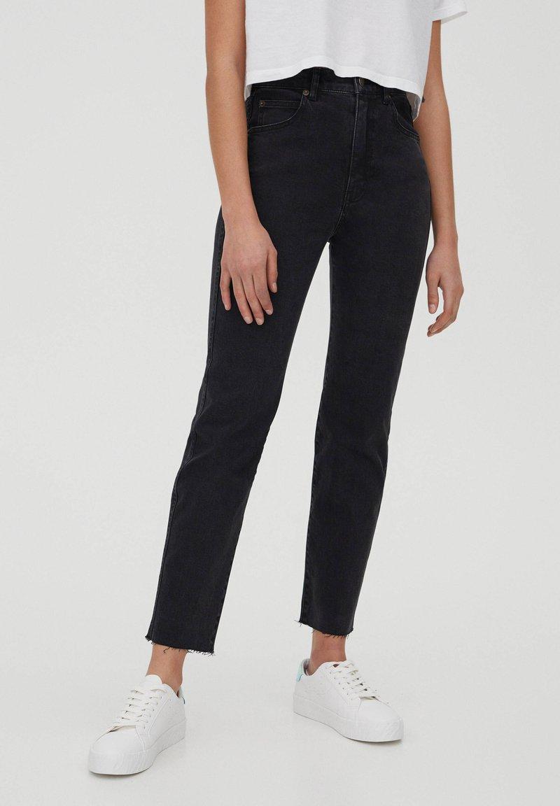 PULL&BEAR - SLIM MOM - Jeans slim fit - black