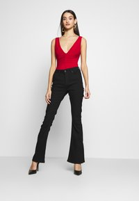 Club L London - BACKLESS PLUNGE - Top - red - 1