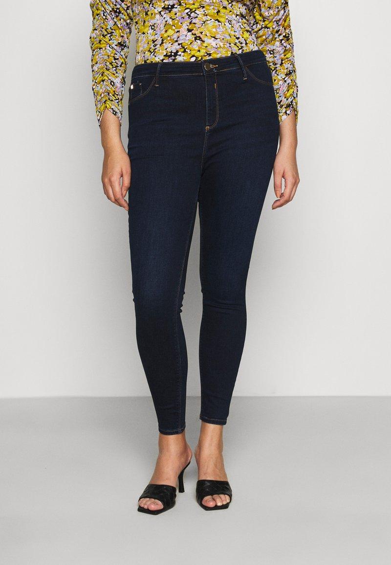 River Island Plus - Jeans Skinny Fit - denim dark