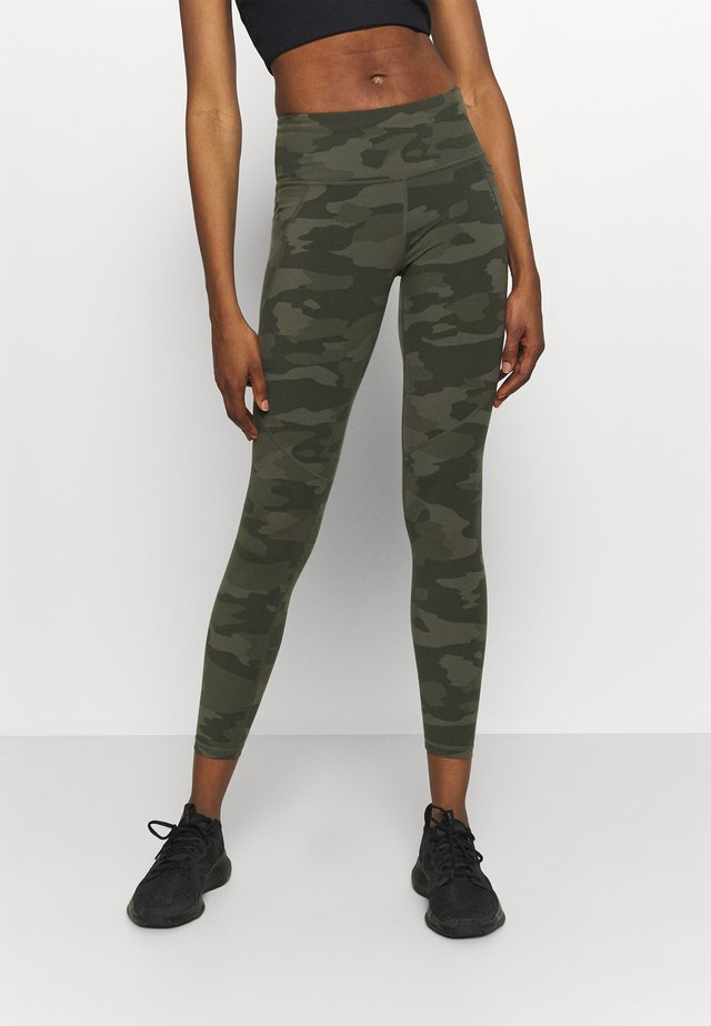 POWER WORKOUT LEGGINGS - Tights - olive