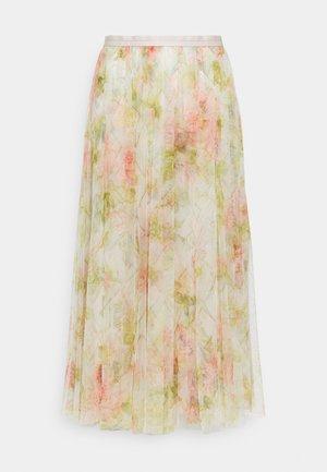 HARLEQUIN ROSE BALLERINA SKIRT - Áčková sukně - beige